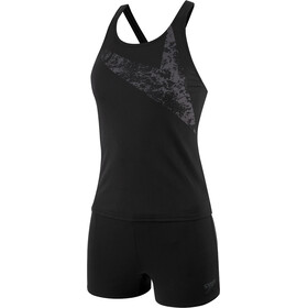 speedo Boomstar Placement Tankini Boyleg Mujer, black/oxid grey